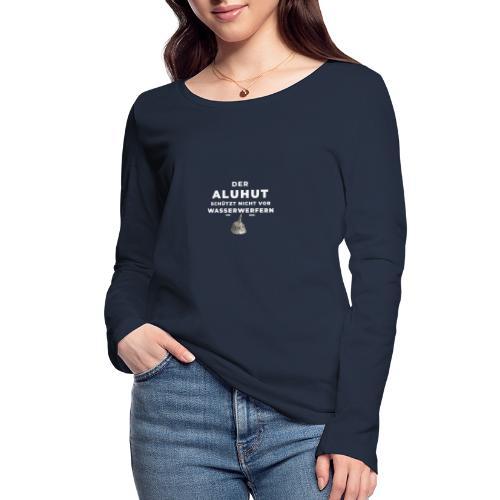 Aluhut und Wasserwerfer - Frauen Bio-Langarmshirt von Stanley & Stella
