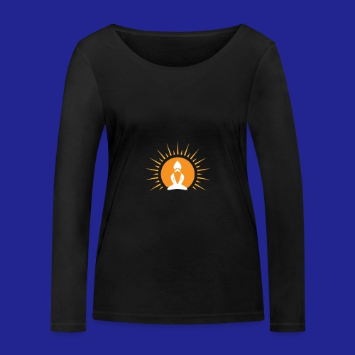 Guramylyfe logo white no text - Women's Organic Longsleeve Shirt by Stanley & Stella