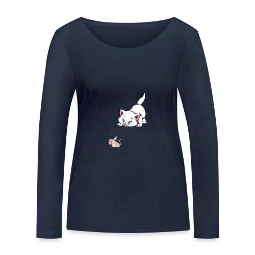 Katze und Maus Achtung Katze - Frauen Bio-Langarmshirt von Stanley & Stella