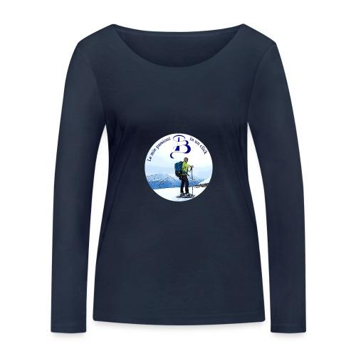 Logo cartone ciaspole - Maglietta a manica lunga ecologica da donna di Stanley & Stella