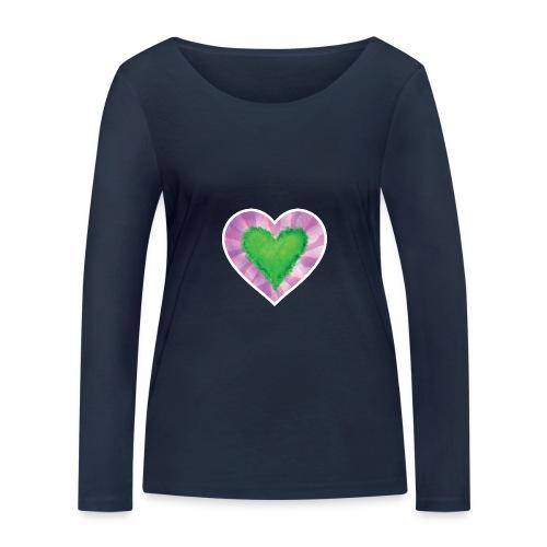 Green Heart - Women's Organic Longsleeve Shirt by Stanley & Stella