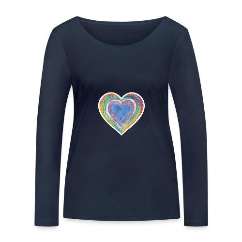 Heart Vibes - Women's Organic Longsleeve Shirt by Stanley & Stella