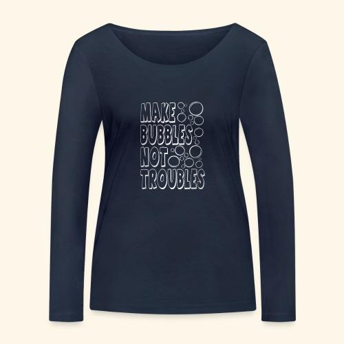 Bubbles003 - Vrouwen bio shirt met lange mouwen van Stanley & Stella