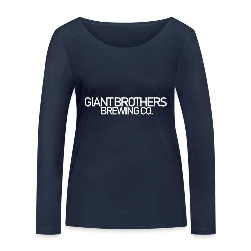 Giant Brothers Brewing co white - Ekologisk långärmad T-shirt dam från Stanley & Stella