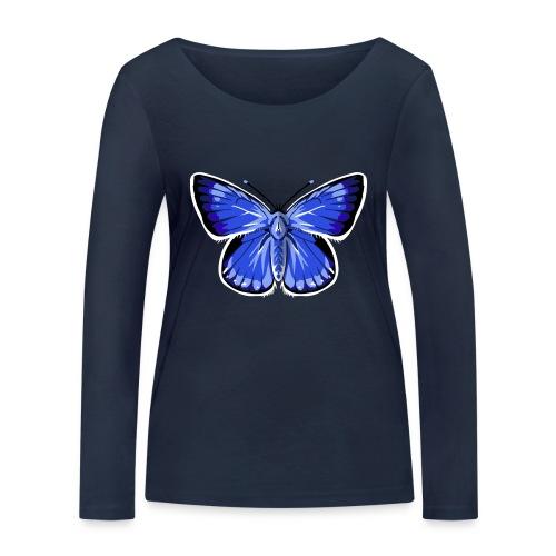 vlinder2_d - Vrouwen bio shirt met lange mouwen van Stanley & Stella