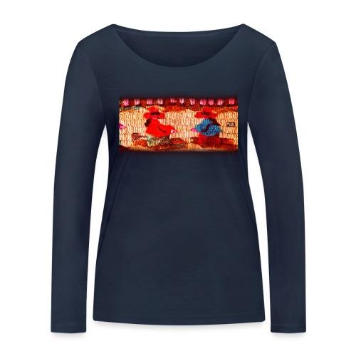 Dos Paisanitas tejiendo telar inca - T-shirt manches longues bio Stanley & Stella Femme
