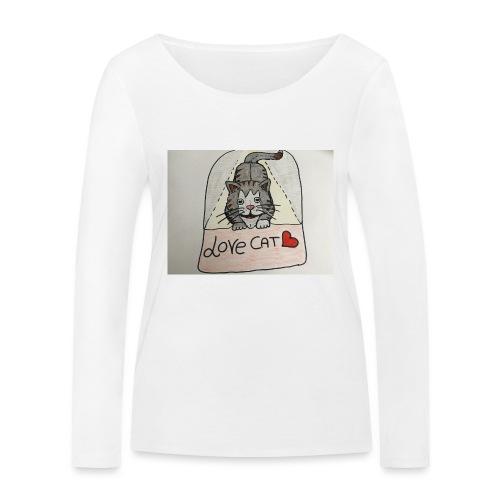 Love cat - Maglietta a manica lunga ecologica da donna di Stanley & Stella