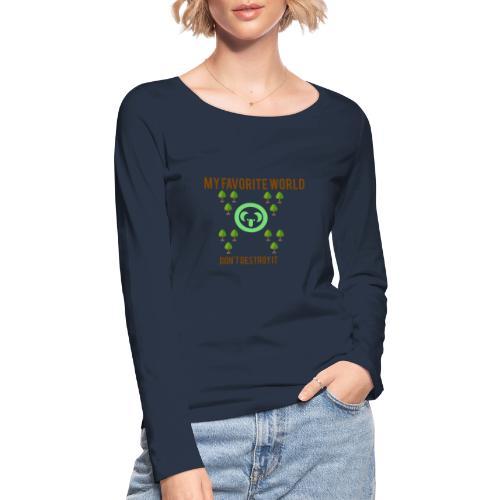 My world - Camiseta de manga larga ecológica mujer de Stanley & Stella