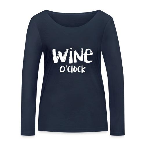 Wine o'clock - Vrouwen bio shirt met lange mouwen van Stanley & Stella