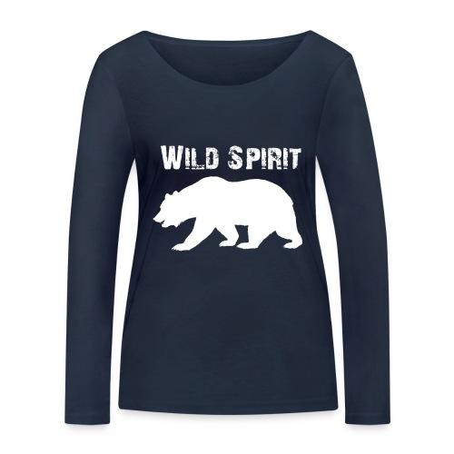 Wild Spirit - Bear - Vrouwen bio shirt met lange mouwen van Stanley & Stella