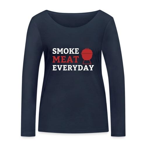 smoke meat everyday shirt - Frauen Bio-Langarmshirt von Stanley & Stella