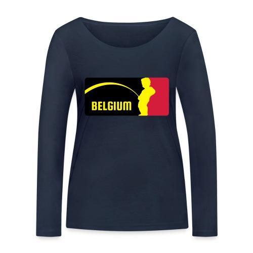 Mannekke Pis, Belgium Rode duivels - Belgium - Bel - T-shirt manches longues bio Stanley & Stella Femme