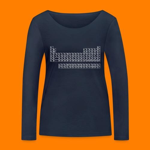 periodic white - Women's Organic Longsleeve Shirt by Stanley & Stella