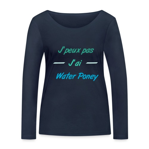 Water Poney - T-shirt manches longues bio Stanley & Stella Femme