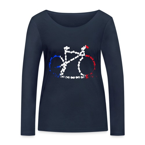 French bike chain - Women's Organic Longsleeve Shirt by Stanley & Stella