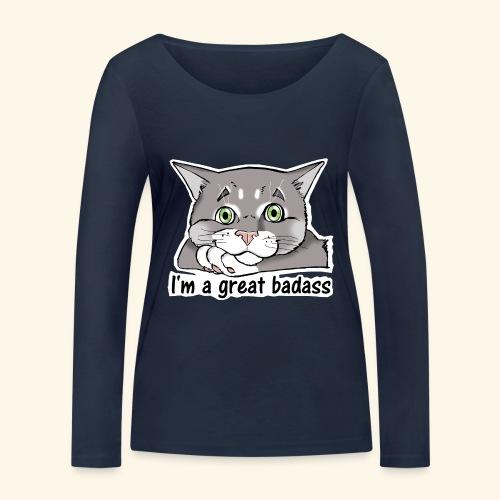 Nice Dogs CATS - Maglietta a manica lunga ecologica da donna di Stanley & Stella