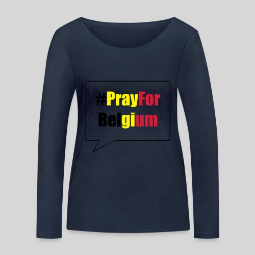#PrayForBelgium - T-shirt manches longues bio Stanley & Stella Femme