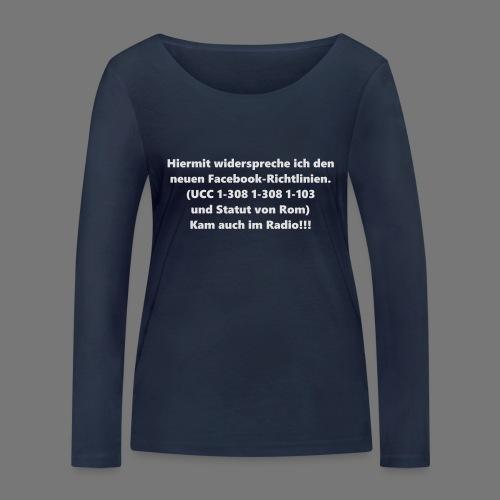 Facebook-AGB - Männer - Frauen Bio-Langarmshirt von Stanley & Stella