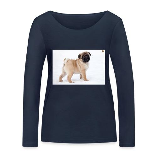 walker family pug merch - Women's Organic Longsleeve Shirt by Stanley & Stella