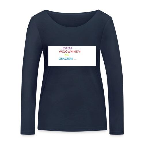 kim jesteś - Ekologiczna koszulka damska z długim rękawem Stanley & Stella