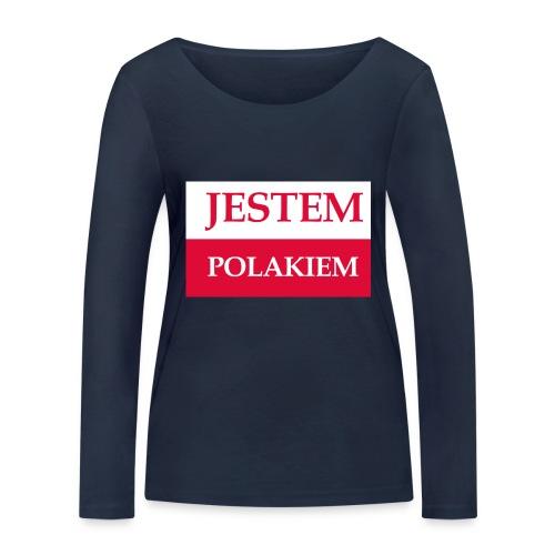 Jestem Polakiem - Ekologiczna koszulka damska z długim rękawem Stanley & Stella