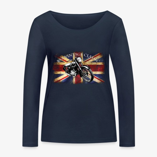 Vintage famous Brittish BSA motorcycle icon - Women's Organic Longsleeve Shirt by Stanley & Stella