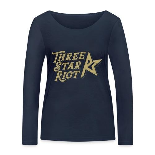 Three Star Riot logo väri - Stanley & Stellan naisten pitkähihainen luomupaita
