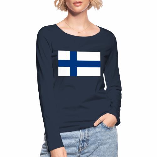 Suomenlippu - tuoteperhe - Stanley & Stellan naisten pitkähihainen luomupaita