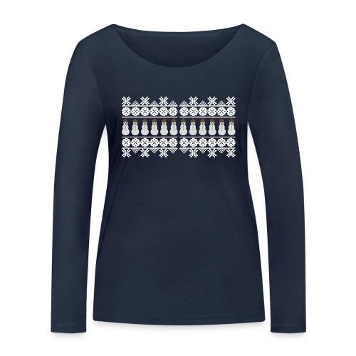 Ugly Christmas Weihnachten Xmas Norweger Design - Frauen Bio-Langarmshirt von Stanley & Stella