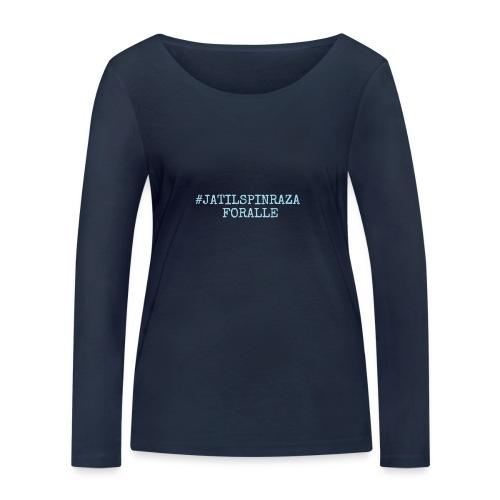 #jatilspinrazaforalle - lysblå - Økologisk langermet T-skjorte for kvinner fra Stanley & Stella