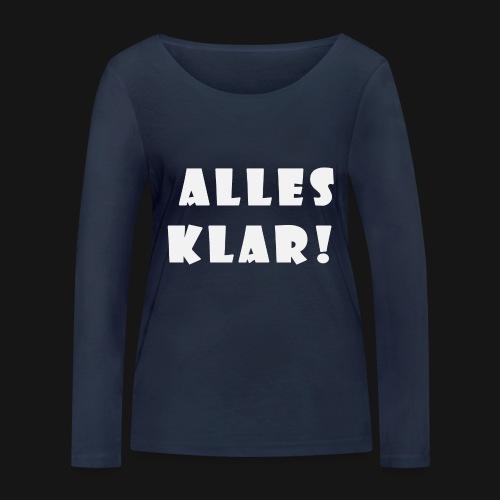 Walkeny's Alles Klar! in weiß! - Frauen Bio-Langarmshirt von Stanley & Stella