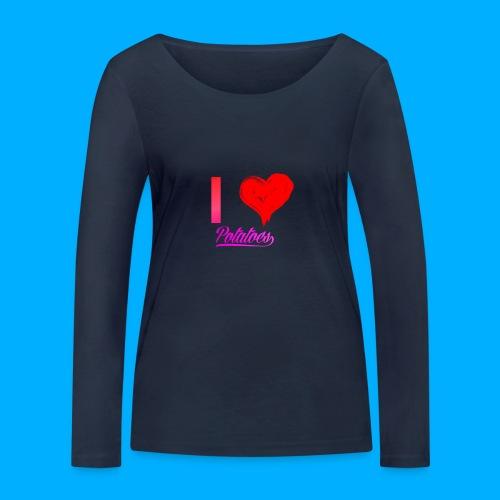I Heart Potato T-Shirts - Women's Organic Longsleeve Shirt by Stanley & Stella