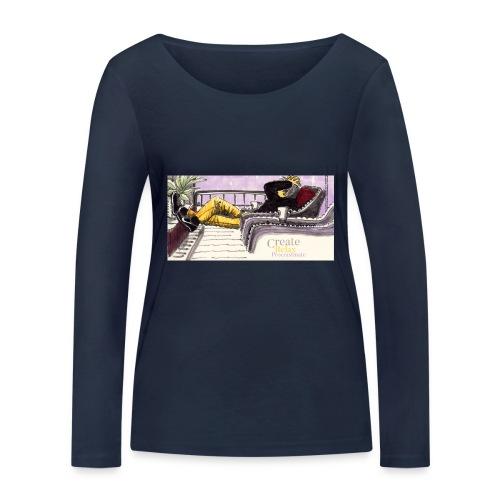 Work Relax Coffee Shop_St - Ekologisk långärmad T-shirt dam från Stanley & Stella