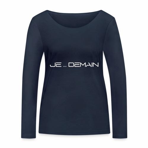 JE ... DEMAIN Blanc - T-shirt manches longues bio Stanley & Stella Femme