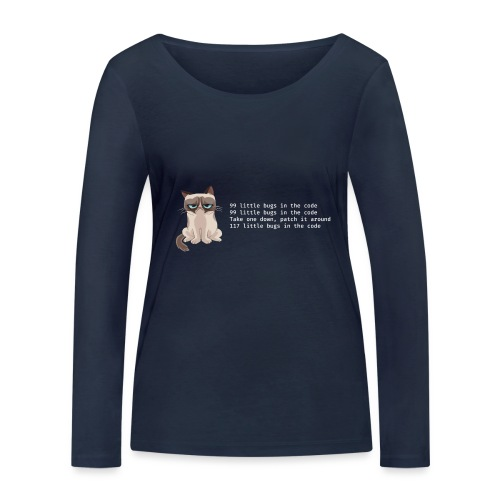 99bugs - white - Vrouwen bio shirt met lange mouwen van Stanley & Stella