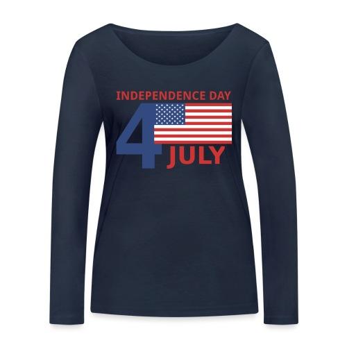 4 luglio giorno della indipendenza - Maglietta a manica lunga ecologica da donna di Stanley & Stella