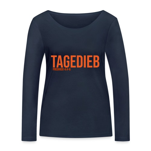 TAGEDIEB - Print in orange - Frauen Bio-Langarmshirt von Stanley & Stella