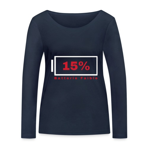 Batterie Faible - T-shirt manches longues bio Stanley & Stella Femme