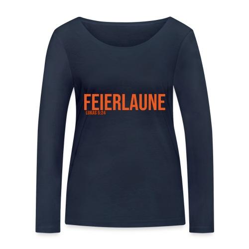 FEIERLAUNE - Print in orange - Frauen Bio-Langarmshirt von Stanley & Stella