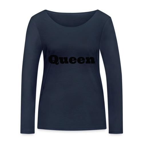 Snapback queen grijs/zwart - Vrouwen bio shirt met lange mouwen van Stanley & Stella