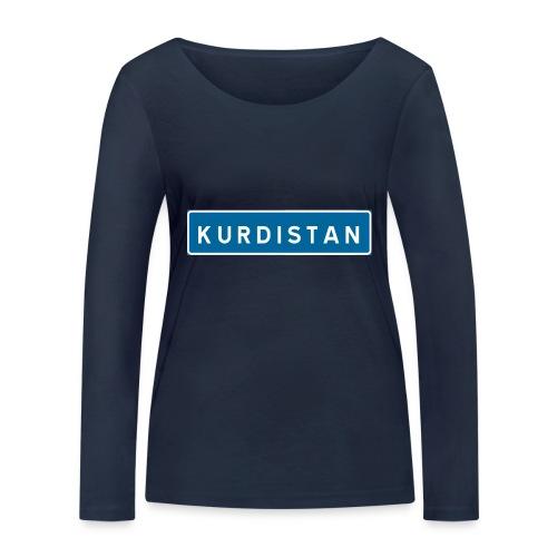 Kurdistanskylt - Ekologisk långärmad T-shirt dam från Stanley & Stella