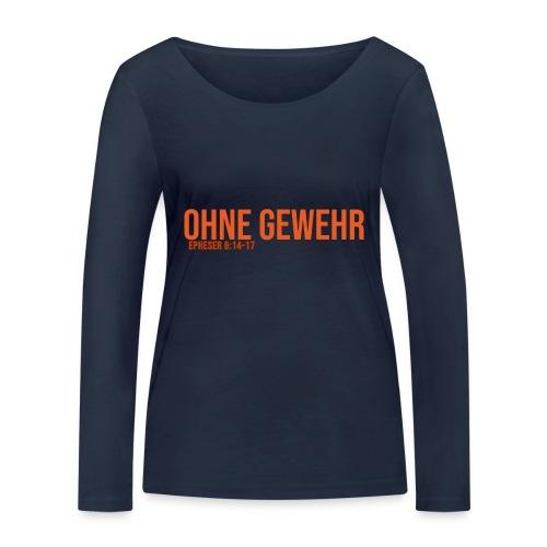 OHNE GEWEHR - Print in orange - Frauen Bio-Langarmshirt von Stanley & Stella