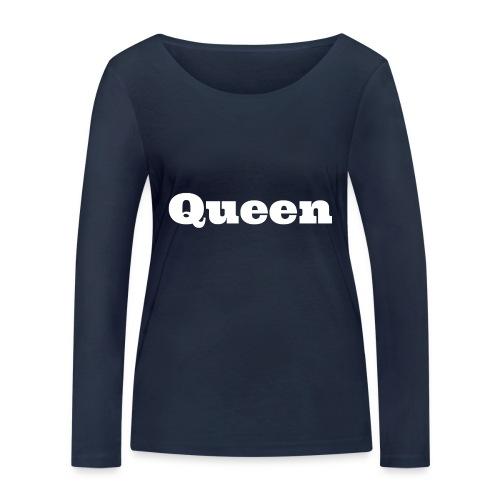 Snapback queen zwart/blauw - Vrouwen bio shirt met lange mouwen van Stanley & Stella