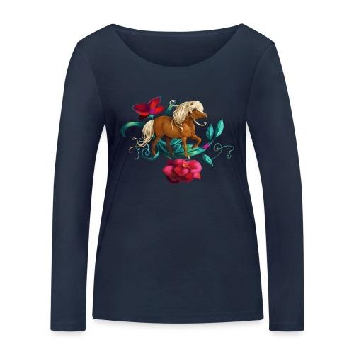 Kamelien Pony - Frauen Bio-Langarmshirt von Stanley & Stella
