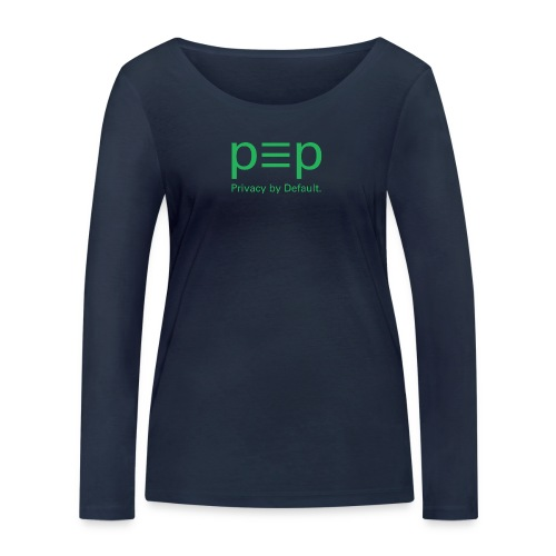 pEp-logo-green-univers - Frauen Bio-Langarmshirt von Stanley & Stella