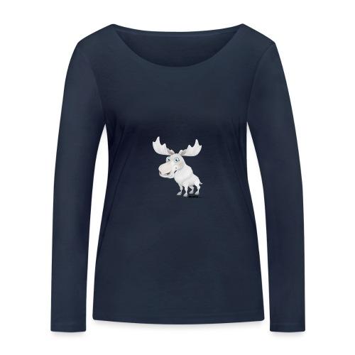 Albino elg - Økologisk langermet T-skjorte for kvinner fra Stanley & Stella