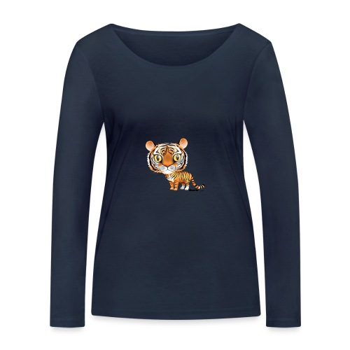 Tygrys - Ekologiczna koszulka damska z długim rękawem Stanley & Stella