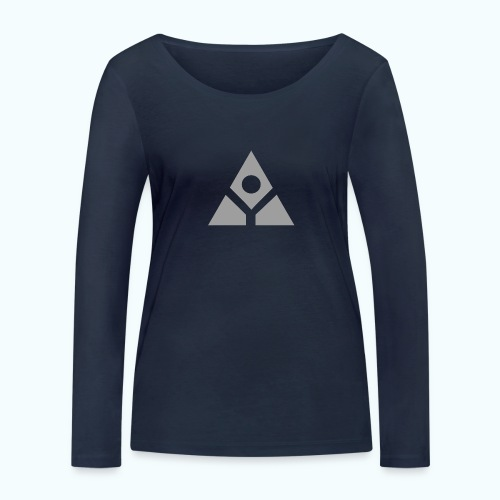 Sacred geometry gray pyramid circle in balance - Women's Organic Longsleeve Shirt by Stanley & Stella