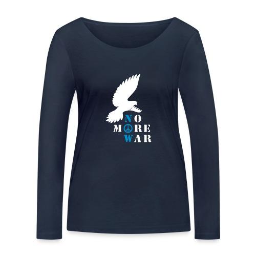 No More War Now Silhouette - Frauen Bio-Langarmshirt von Stanley & Stella