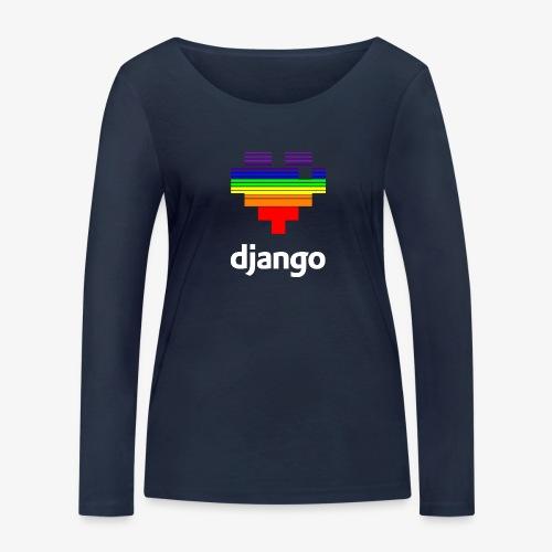 heart pride white - Women's Organic Longsleeve Shirt by Stanley & Stella